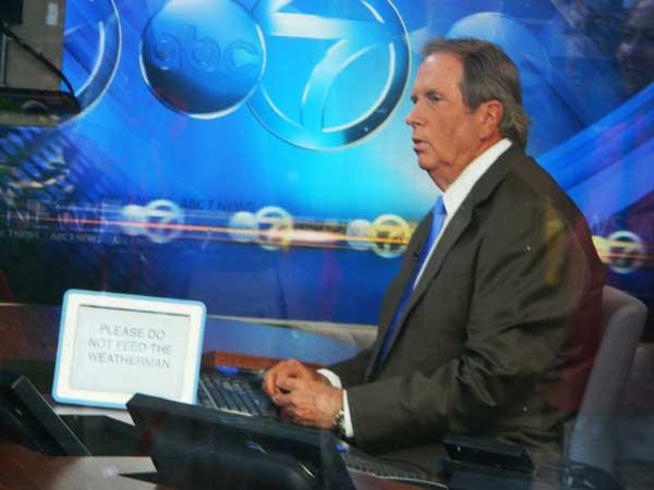 ABC7 meteorologist Jerry Taft