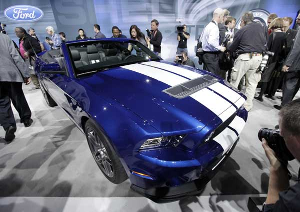 Ford introduces the Ford Mustang GT500 Shelby convertible during the media preview of the Chicago Auto Show at McCormick Place in Chicago on Wednesday, Feb. 8, 2012.  <span class=meta>(AP photo&#47;Nam Y. Huh)</span>