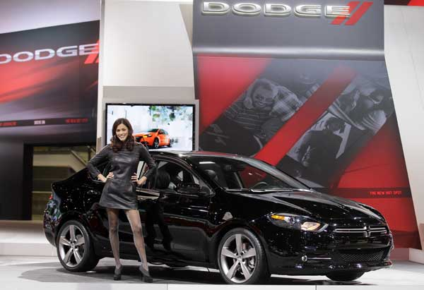 Dodge introduces the Dodge Dart during the media preview of the Chicago Auto Show at McCormick Place in Chicago on Wednesday, Feb. 8, 2012. <span class=meta>( &#40;AP photo&#47;Nam Y. Huh&#41;)</span>