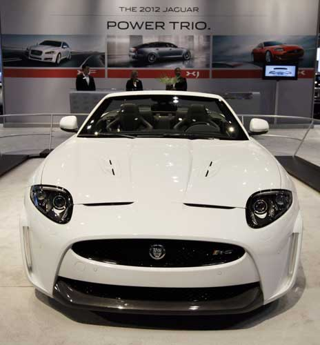 Jaguar introduces a 2012 XKR-S convertible during the media preview of the Chicago Auto Show at McCormick Place in Chicago on Wednesday, Feb. 8, 2012.  <span class=meta>(AP photo&#47;Nam Y. Huh)</span>