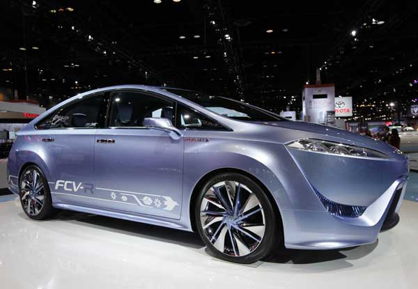 oyota displays the FCV-R concept during the media preview of the Chicago Auto Show at McCormick Place in Chicago on Thursday, Feb. 9, 2012.  <span class=meta>(AP photo&#47;Nam Y. Huh)</span>