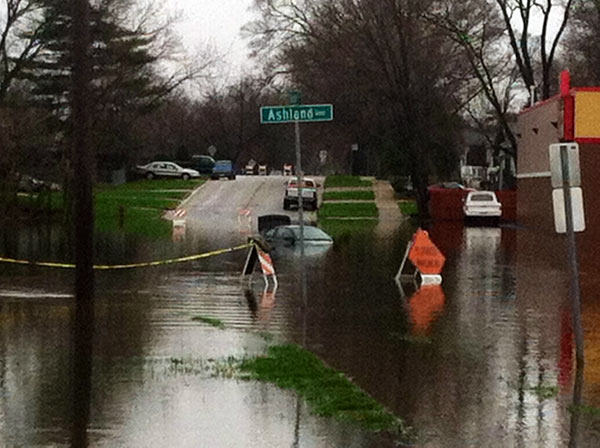 Viewer photo: Off Ashland Avenue in Aurora.