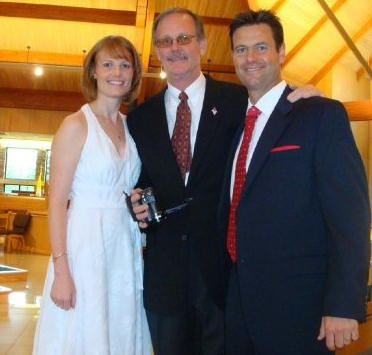 Action News producer Jamie Pschorr, her father Eric Pschorr, and her brother Eric.