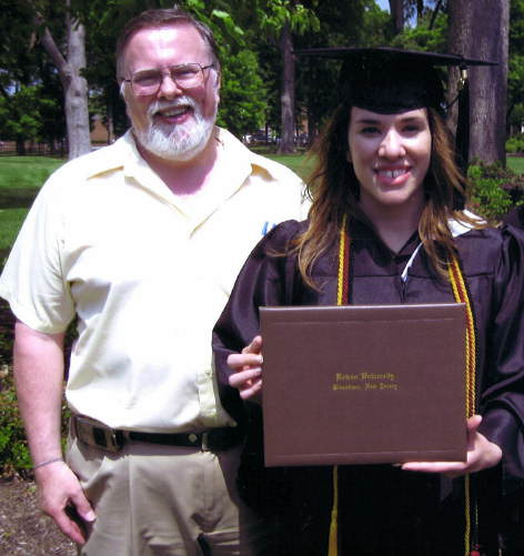 "<div class=""meta ""><span class=""caption-text "">Action News producer Bob Timms with his daughter Rebecca at her graduation from Rowan University in May 2010.</span></div>"