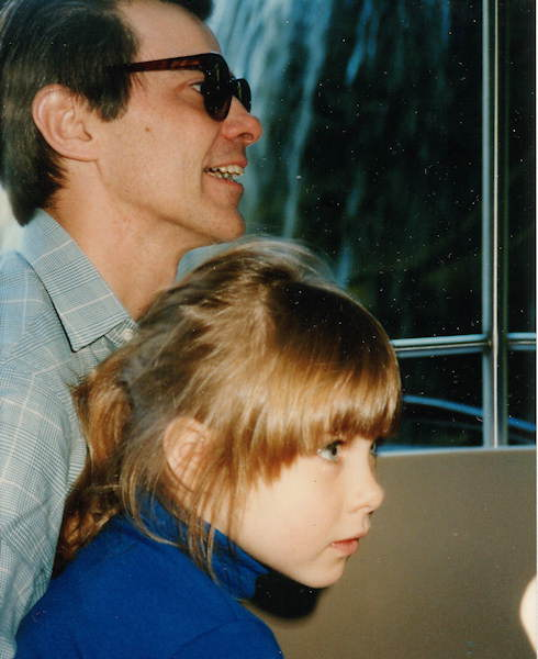 Katherine Scott and her dad Dan Scott  at some point in the 80s. He's the best dad ever!