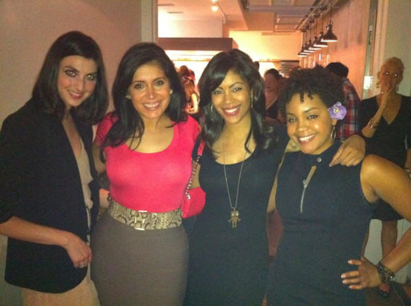 "<div class=""meta ""><span class=""caption-text "">6at4 Girls' Nite Out!  Producer Jessica Gonzalez, Alicia Vitarelli, Shirleen Allicot and producer Porsha Grant attend a 5-course food tasting event at The Kitchen NYC in New York, on June 30, 2011.</span></div>"