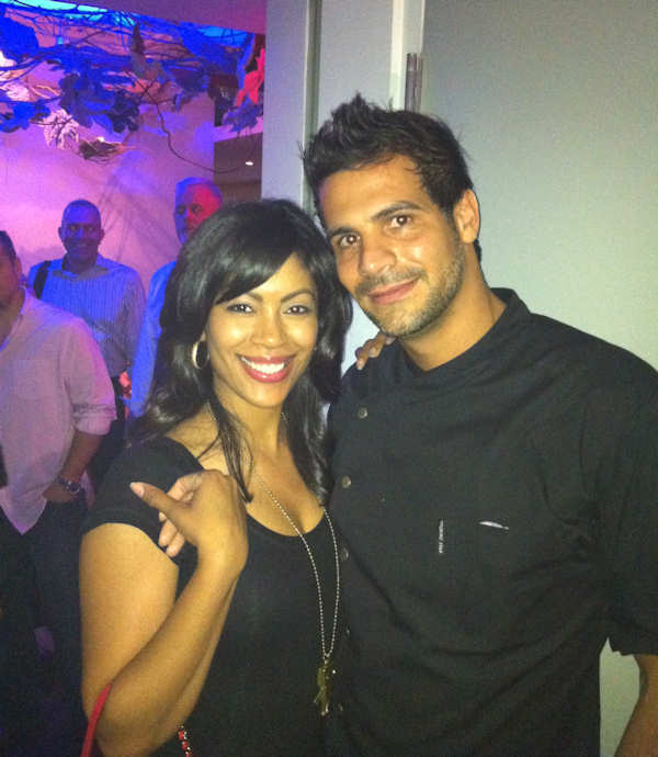 Shirleen Allicot with top chef Angelo Sosa