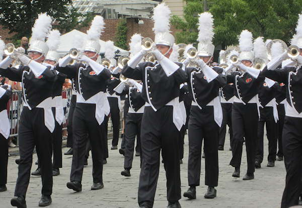 One of the many marching bands that participated in the July 4 parade in Center City Philadelphia.