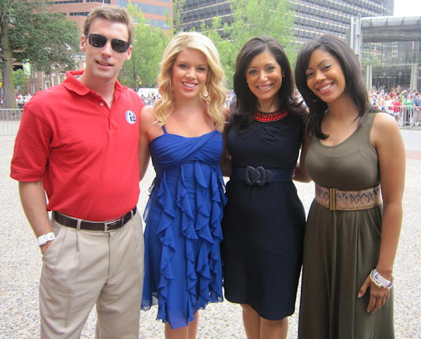 "<div class=""meta ""><span class=""caption-text "">Brian Taff, Miss America 2011 Teresa Scanlan, Alicia Vitarelli and Shirleen Allicot at the Philadelphia July 4th parade in Center City.</span></div>"