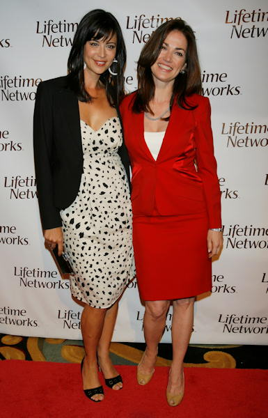 Catherine Bell, left, and Kim Delaney, right pose at the Lifetime cable channel&#39;s Upfront session in New York on Tuesday, April 24, 2007, before they started in the new Lifetime drama series &#34;Army Wives.&#34;  <span class=meta>(AP Photo&#47;Rick Maiman)</span>