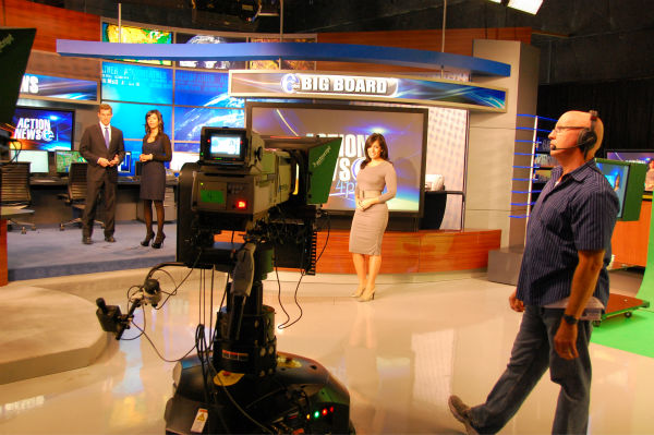 Brian Taff, Shirleen Allicot and Alicia Vitarelli ready to finish up the 4pm promo.
