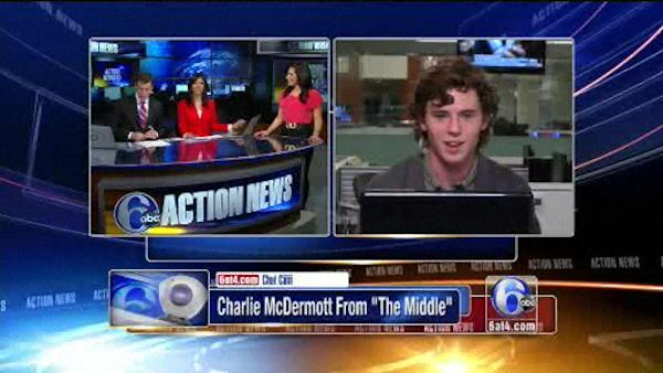 Charlie McDermott, the Middle's Axl Heck, visits Action News - 6at4