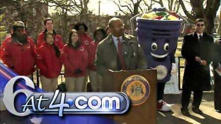 Philadelphia Mayor Michael Nutter at the 5th Annual Philly Spring Cleanup announcement.
