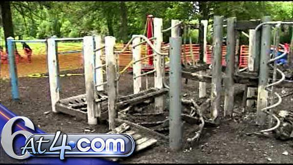 Playground arson reward hits $11,000 - 6at4