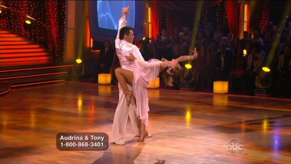 Audrina Patridge and Tony Dovolani scored 23 points for their Rumba to