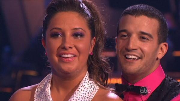 Bristol Palin and Mark Ballas scored 18 and are at the bottom of the scoreboard. They danced the Jive to the theme from