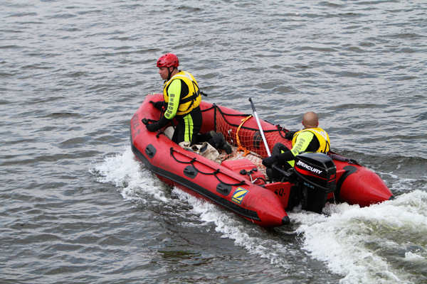 "<div class=""meta ""><span class=""caption-text "">A rescue vessel is seen on the Delaware River where a tourist boat carrying 37 people overturned when a barge hit it, leaving two people unaccounted for and the extent of injuries unclear after a frantic rescue effort in Philadelphia, Wednesday, July 7, 2010. (AP Photo/ Joseph Kaczmarek) (AP Photo/ Joseph Kaczmarek)</span></div>"