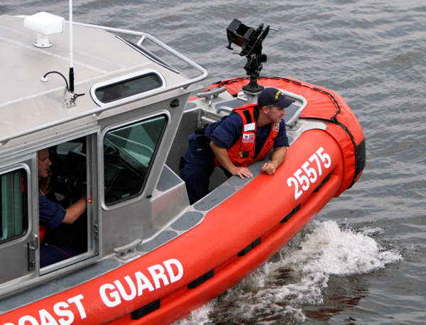 A rescue vessel is seen on the Delaware River where a tourist boat carrying 37 people overturned when a barge hit it, leaving two people unaccounted for and the extent of injuries unclear after a frantic rescue effort in Philadelphia, Wednesday, July 7, 2010. &#40;AP Photo&#47; Joseph Kaczmarek&#41; <span class=meta>(AP Photo&#47; Joseph Kaczmarek)</span>