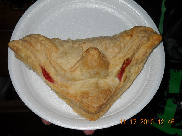 "<div class=""meta ""><span class=""caption-text "">Action News viewers Kea & Keisha sent in through See It, Shoot It, Send It this photo of a pastry that they think looked like a goblin . Would you eat a possessed pastry?</span></div>"