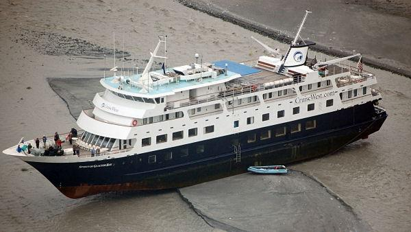 Alaskan cruise gets grounded