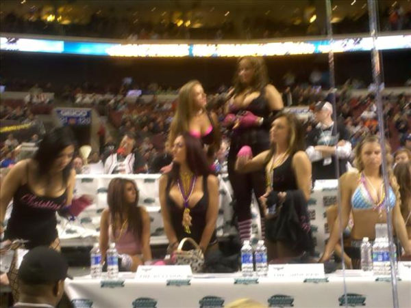 Some of the action from Wing Bowl in in Philadelphia
