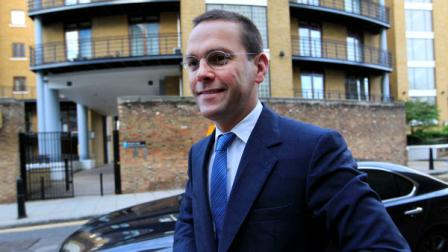 Chief executive of News Corporation Europe and Asia, James Murdoch arrives at News International headquarters in London, Tuesday, July 19, 2011.