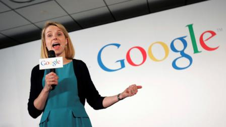 Google Inc. Vice President Marissa Mayer speaks to foreign and local media during a press conference in Taipei, Taiwan, Tuesday, June 23, 2009.  (AP Photo/Wally Santana)