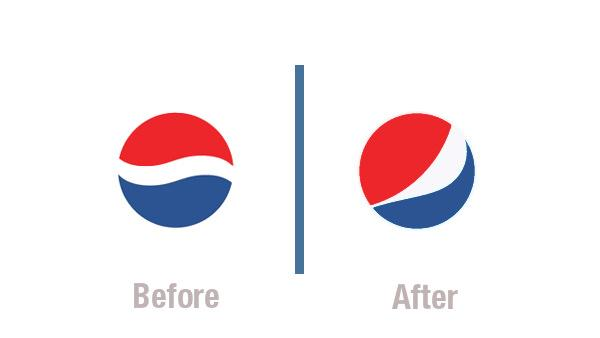Pepsi logos Before & After
