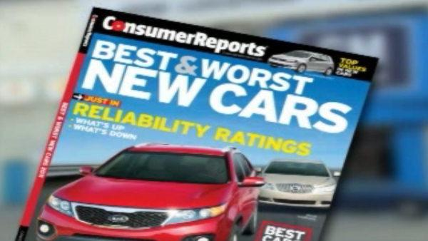 Consumer Reports ranks best cars of 2010