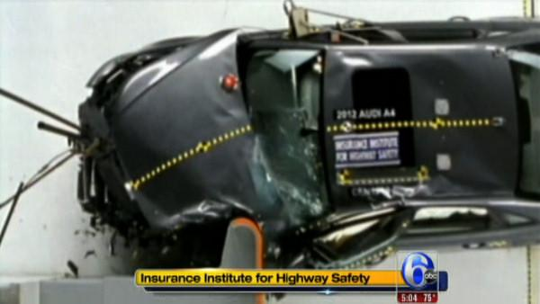 Some luxury cars do poorly in new crash tests