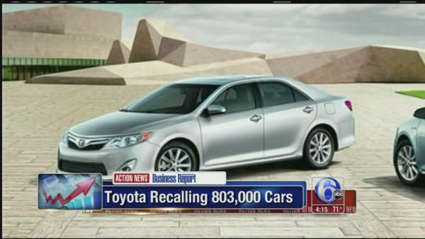 Toyotal Recalling 803,000 cars