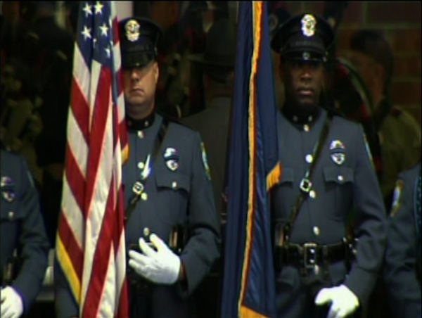 The funeral for Officer Robert Lasso on August 16, 2011.