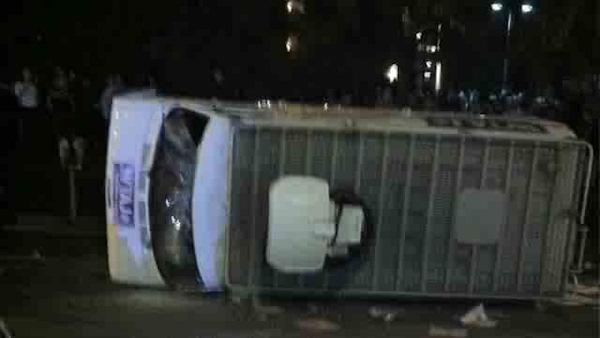 "<div class=""meta image-caption""><div class=""origin-logo origin-image ""><span></span></div><span class=""caption-text"">A WTAJ-TV Altoona truck is overturned on the campus of Penn State following the announcement that longtime head football coach Joe Paterno has been fired on November 9, 2011. (Twitter photo)</span></div>"