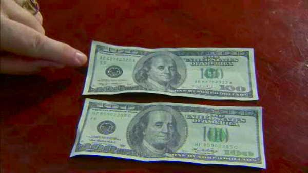 Be on the lookout for counterfeit $100 bills