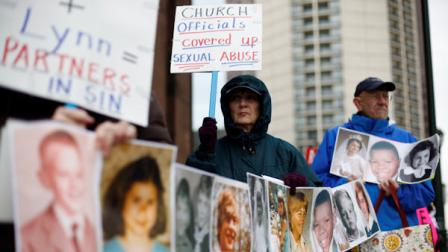 Church abuse protests