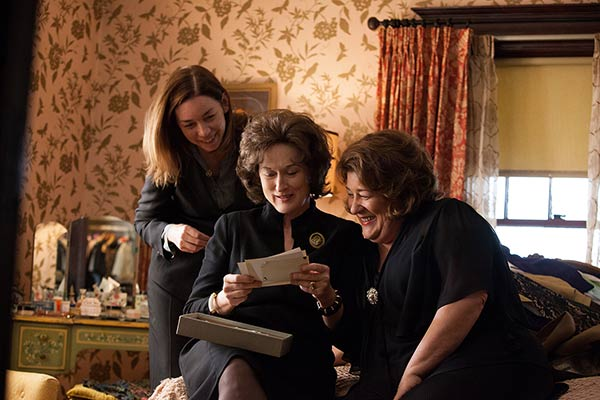 "BEST ACTRESS NOMINEE: This publicity image released by The Weinstein Company shows, from left, Julianne Nicholson, Meryl Streep and Margo Martindale in a scene from ""August: Osage County."" Streep was nominated for an Academy Award for best actress on Thursday, Jan. 16, 2014. The 86th Academy Awards will be held on March 2. (AP Photo/The Weinstein Company, Claire Folger)"