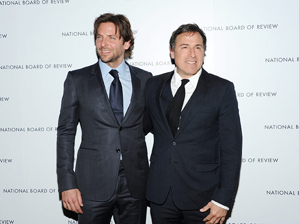 "BEST DIRECTOR NOMINEE: This Jan. 8, 2013 file photo shows Bradley Cooper, left, and writer-director David O. Russell, at the National Board of Review Awards gala in New York. Russell was nominated for an Academy Award for best director for his film ""American Hustle"" on Thursday, Jan. 16, 2014. The 86th Academy Awards will be held on March 2. (Photo by Evan Agostini/Invision/AP, file)"