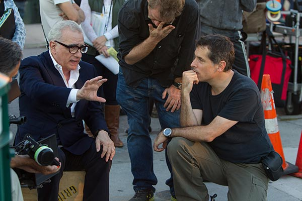 "BEST DIRECTOR NOMINEE: This image released by Paramount Pictures shows director Martin Scorsese, left, with cinematographer Rodrigo Prieto during the filming of ""The Wolf of Wall Street."" Scorsese was nominated for an Academy Award for best director on Thursday, Jan. 16, 2014. The 86th Academy Awards will be held on March 2. (AP Photo/Paramount Pictures, Mary Cybulski)"