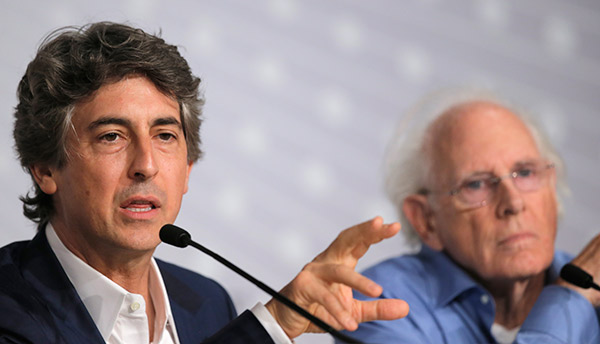 BEST DIRECTOR NOMINEE: Director Alexander Payne, left, speaks as actor Bruce Dern listens during a press conference for Nebraska at the 66th international film festival, in Cannes, southern France, Thursday, May 23, 2013. Payne was nominated for an Academy Award for best director on Thursday, Jan. 16, 2014. The 86th Academy Awards will be held on March 2. (AP Photo/Francois Mori)