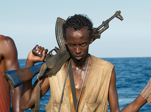 "BEST SUPPORTING ACTOR NOMINEE: This photo released by Sony - Columbia Pictures shows Barkhad Abdi in a scene from the film, ""Captain Phillips. Abdi was nominated for an Academy Award for best supporting actor on Thursday, Jan. 16, 2014. The 86th Academy Awards will be held on March 2. (AP Photo/Copyright Sony - Columbia Pictures, Jasin Boland)"