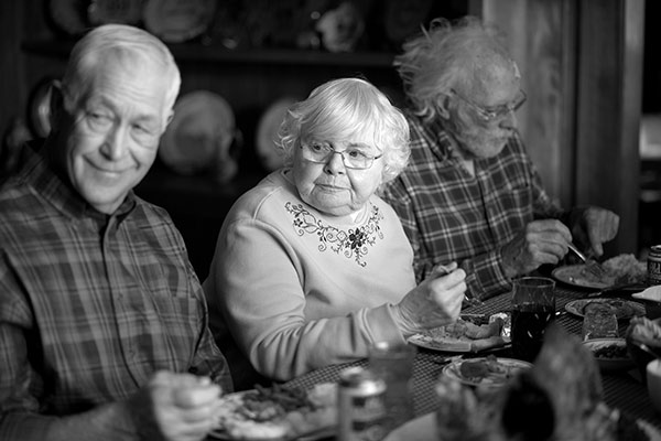 "BEST SUPPORTING ACTRESS NOMINEE: This image released by Paramount Pictures shows, from left, Dennis McCoig as Uncle Verne, June Squibb as Kate Grant and Bruce Dern as Woody Grant in a scene from the film ""Nebraska,"" about a booze-addled father who makes to Nebraska with his estranged son in order to claim a million dollar Mega Sweepstakes Marketing prize. Squibb was nominated for an Academy Award for best supporting actress on Thursday, Jan. 16, 2014. The 86th Academy Awards will be held on March 2. (AP Photo/Paramount Pictures, Merie W. Wallace)"