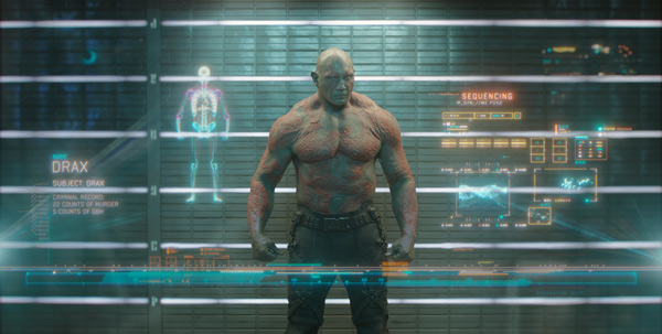 Dave Bautista stars as Drax in Marvel's Guardians of the Galaxy
