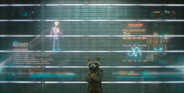 Rocket voiced by Bradley Cooper in Marvel's Guardians of the Galaxy