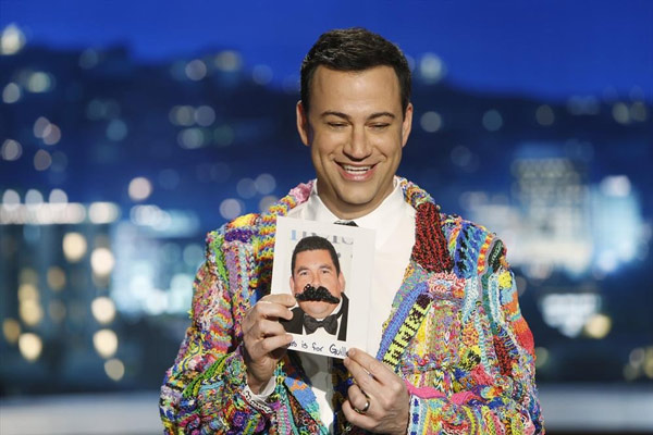 "<div class=""meta ""><span class=""caption-text "">Jimmy Kimmel noticed that a lot of kids are really into Rainbow Loom, so he asked parents to have their children loom something for him. His plan was to weave all their creations together into a suit he'd wear on the show and this is the debut of his #SuitOfTheLoom. (ABC/Randy Holmes) </span></div>"
