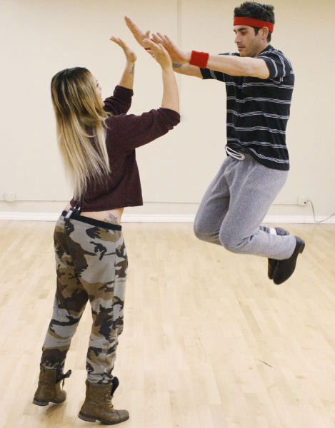 &#34;Psycho&#34; Mike Catherwood and Lacey Schwimmer rehearse for the premiere of Season 12 of &#34;Dancing with the Stars&#34; on Monday March 21, 2011. <span class=meta>(Photo&#47;ABC-TV)</span>