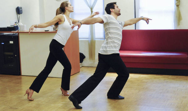 Model Petra Nemcova and professional dancer Dmitry Chaplin prepare for their first performance in season 12 of &#34;Dancing with the Stars&#34; on Monday, March 21. <span class=meta>(Photo&#47;ABC-TV)</span>