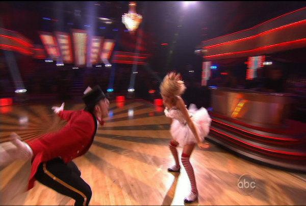 "<div class=""meta ""><span class=""caption-text "">Chelsea Kane & Mark Ballas danced the Jive during Week 2 of Season 12 of Dancing with the Stars. They received a score of 18. </span></div>"