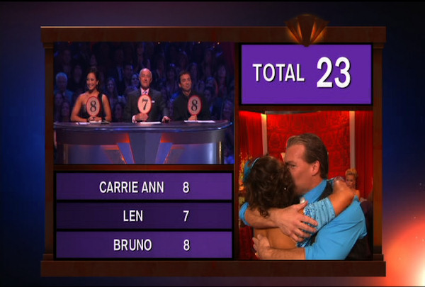 Chris Jericho & Cheryl Burke danced the Quickstep during Week 2 of Season 12 of Dancing with the Stars. They received a score of 23.