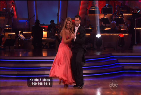 "<div class=""meta image-caption""><div class=""origin-logo origin-image ""><span></span></div><span class=""caption-text"">Kirstie Alley & Maksim Chmerkovskiy danced the Quickstep during Week 2 of Season 12 of Dancing with the Stars. They received a score of 20.</span></div>"
