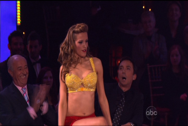 "<div class=""meta ""><span class=""caption-text "">Petra Nemcova & Dmitry Chaplin danced the Jive during Week 2 of Season 12 of Dancing with the Stars. They received a score of 18. </span></div>"